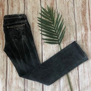 ReRock Express Washed Black Straight Jeans Size 6